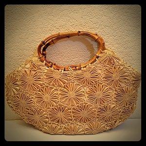 Vintage Ritter Japan Asian bamboo purse handbag